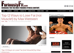 FuriouslyFit.com Screen 1